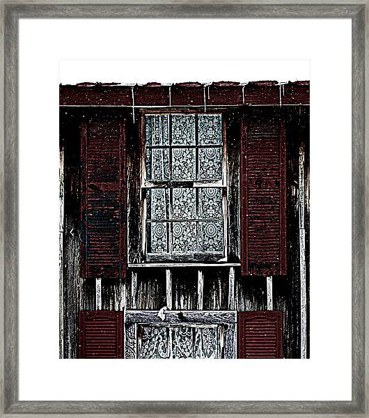 Laced Window Framed Print