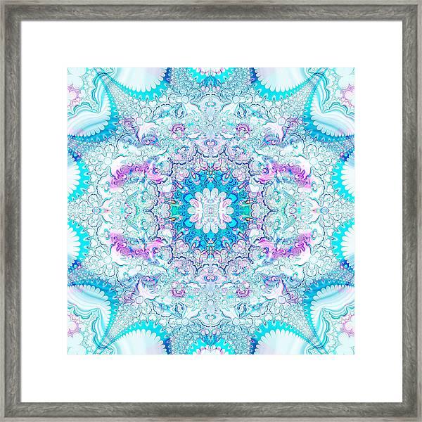 Lacy Mandala Framed Print