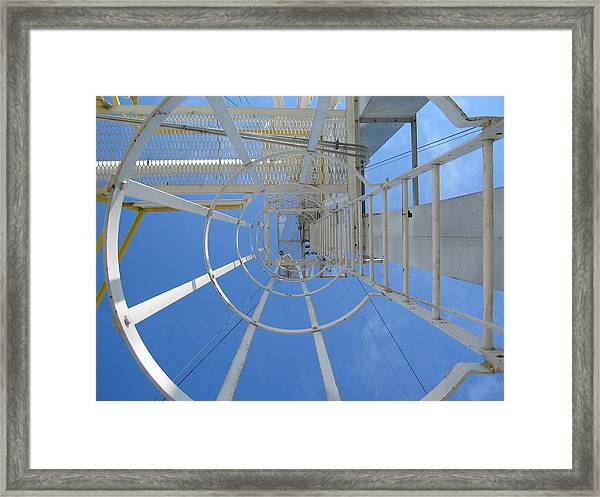Framed Print featuring the photograph Ladder by Dylan Punke