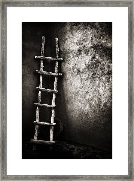Ladder In Truchas New Mexico Framed Print