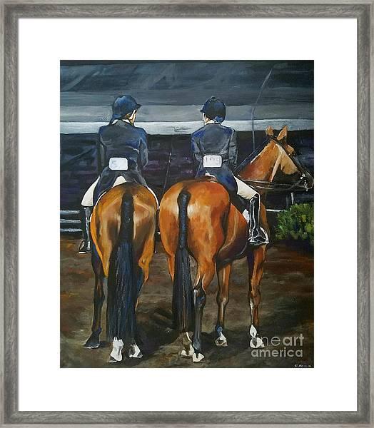 Ladies At Sussex Hunt Night Framed Print