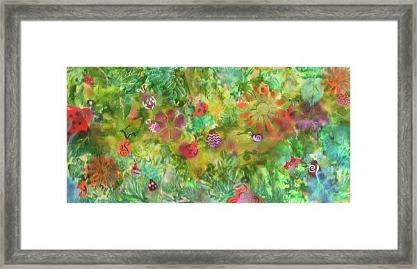 Ladies Garden Retreat Framed Print