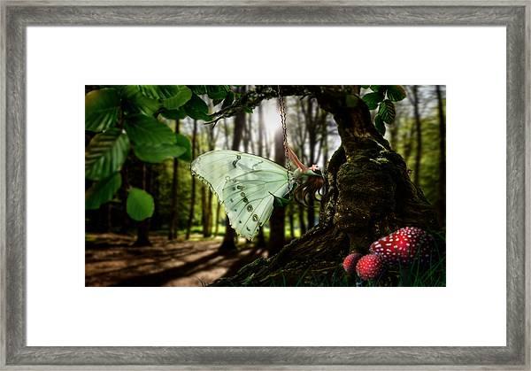 Lady Butterfly Framed Print