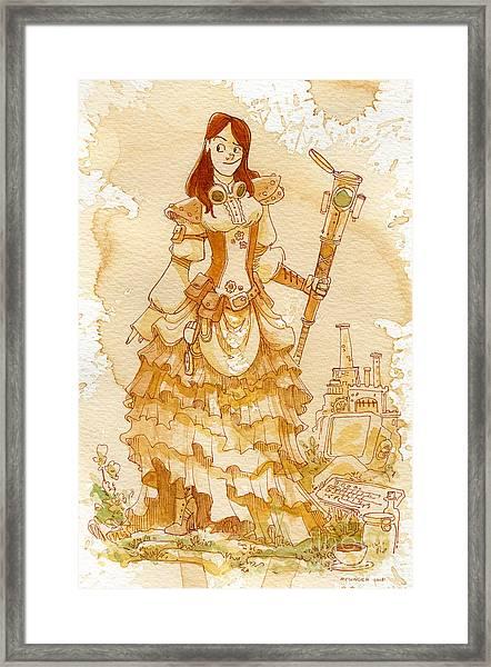 Lady Codex Framed Print