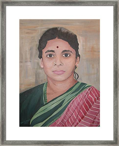 Lady From India Framed Print