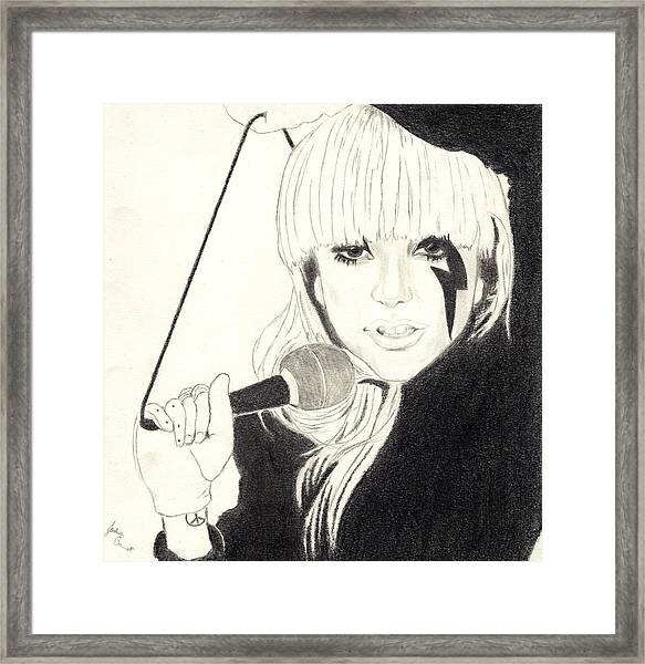 Lady Gaga Framed Print by Josh Bennett