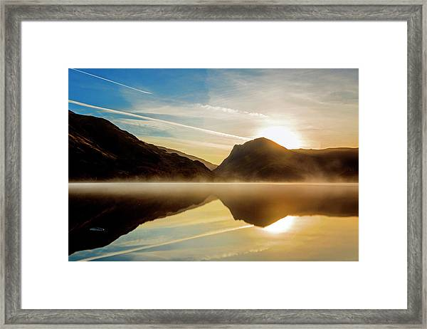 Lady In The Lake Framed Print