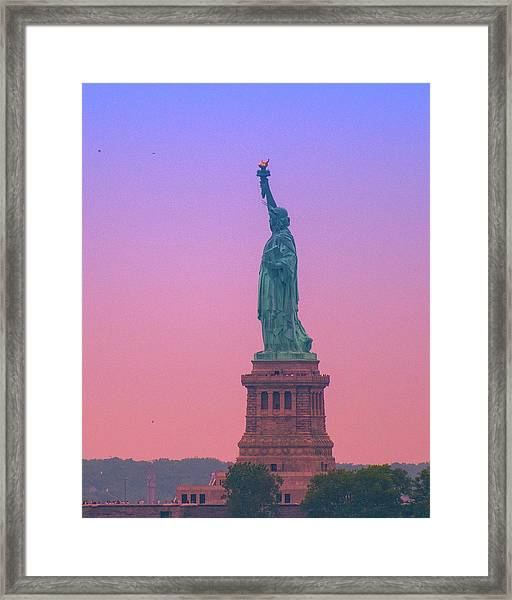 Lady Liberty, Standing Tall Framed Print