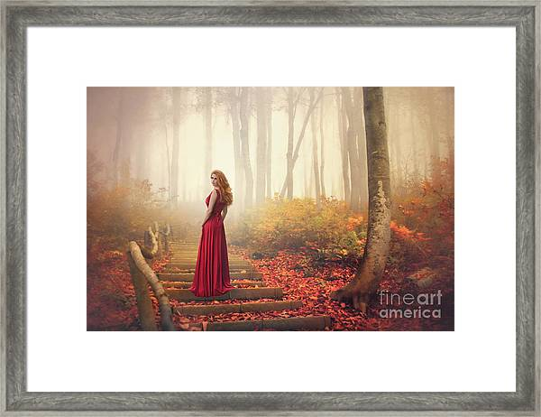 Lady Of The Golden Forest Framed Print