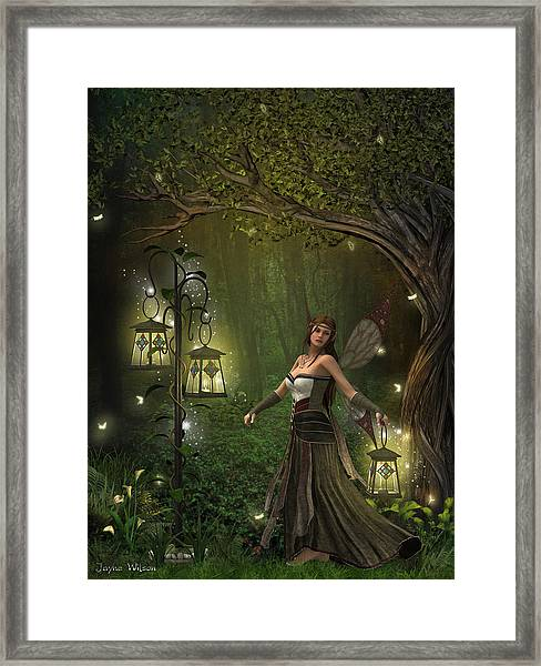 Lady Of The Lanterns Framed Print