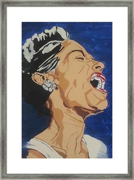 Lady Sings The Blues Framed Print