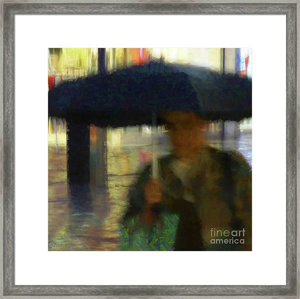 Lady With Umbrella Framed Print