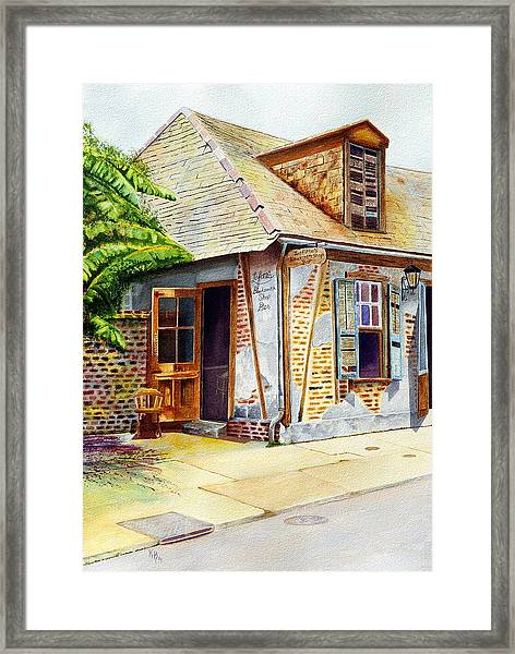 Lafittes Of New Orleans Framed Print
