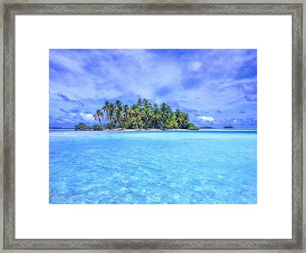 Lagoon Islands At Rangiroa Framed Print