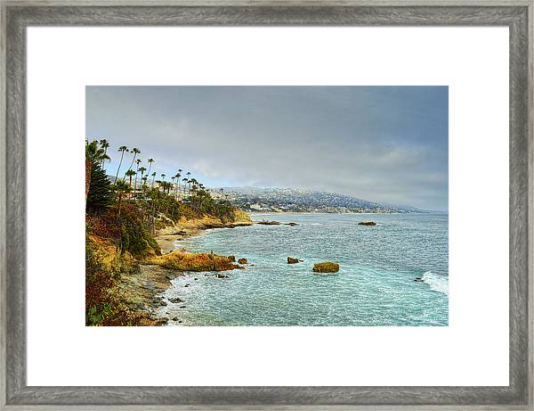Laguna Beach Coastline Framed Print
