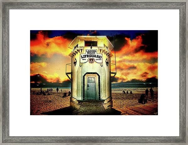 Laguna Beach Lifeguard Hq Framed Print