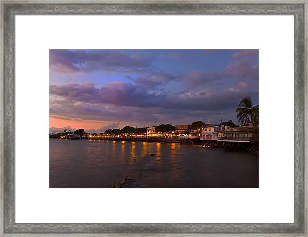 Lahaina Twilight Framed Print