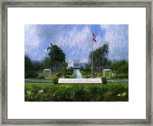 Laie Hawaii Temple Framed Print