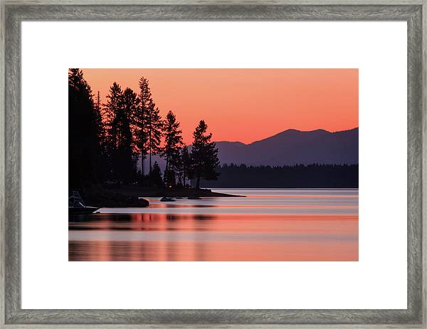 Lake Almanor Twilight Framed Print