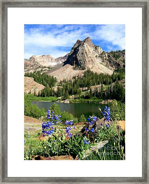 Lake Blanche And Sundial Peak Framed Print
