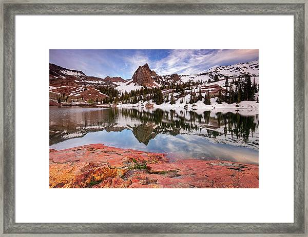 Lake Blanche Reflection Framed Print