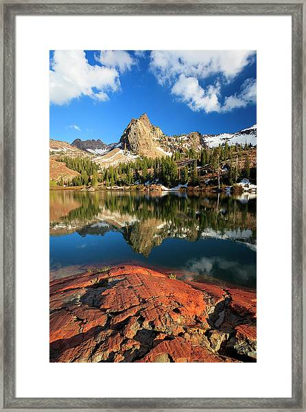 Lake Blanche Spring Vertical Framed Print