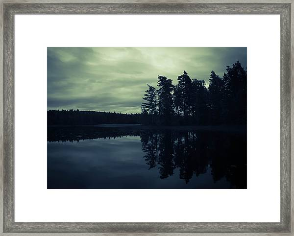 Lake By Night Framed Print