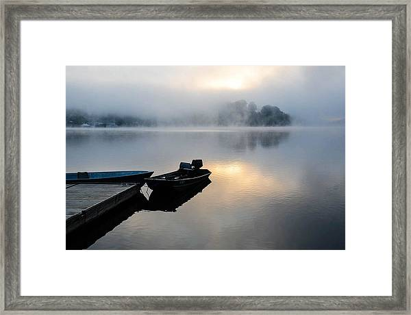 Lake Calm Framed Print