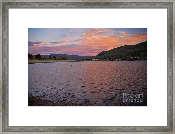 Lake Chelan Sunset Framed Print