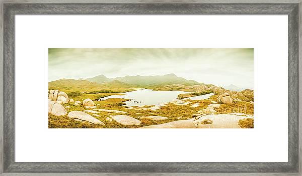 Lake Cumberland, Western Tasmania Framed Print