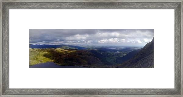Lake District Panoramic Framed Print
