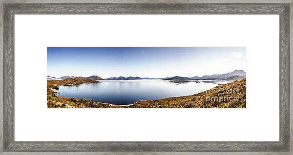 Lake Edgar Dam Southwest Tasmania Framed Print
