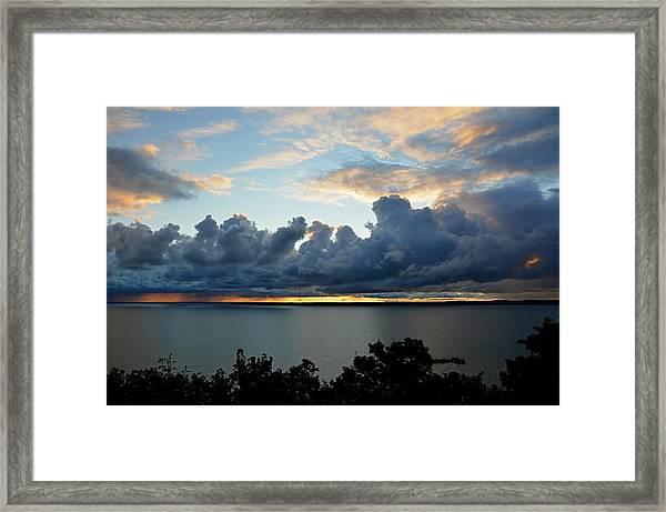 Lake Effect Sky Framed Print