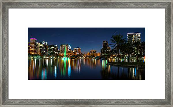 Lake Eola Orlando Framed Print
