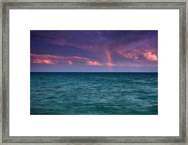 Lake Erie Rainbow Framed Print