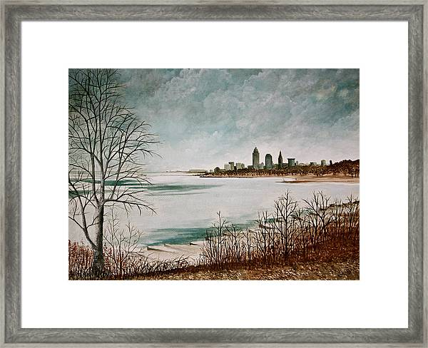 Lake Erie Winter Framed Print