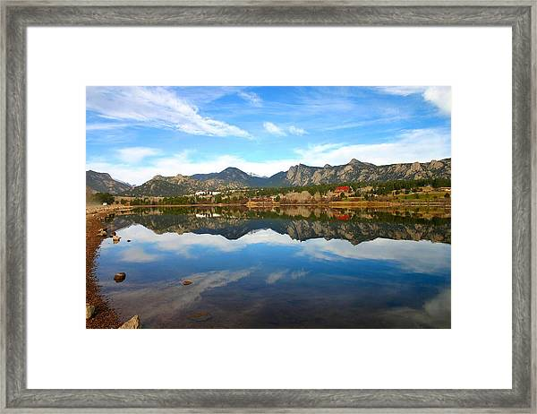 Lake Estes Reflections Framed Print