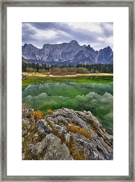 Lake Fusine Framed Print