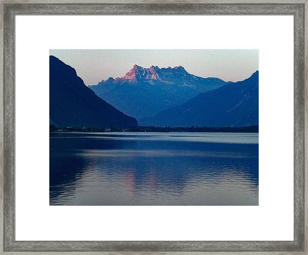 Lake Geneva, Switzerland Framed Print