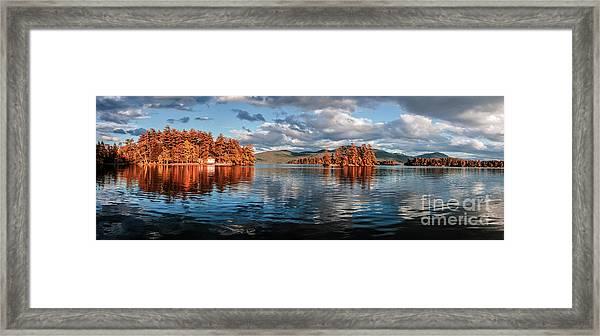 Lake George Panorama  Framed Print