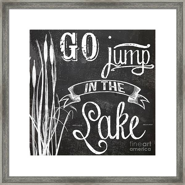 Lake House Rustic Sign Framed Print