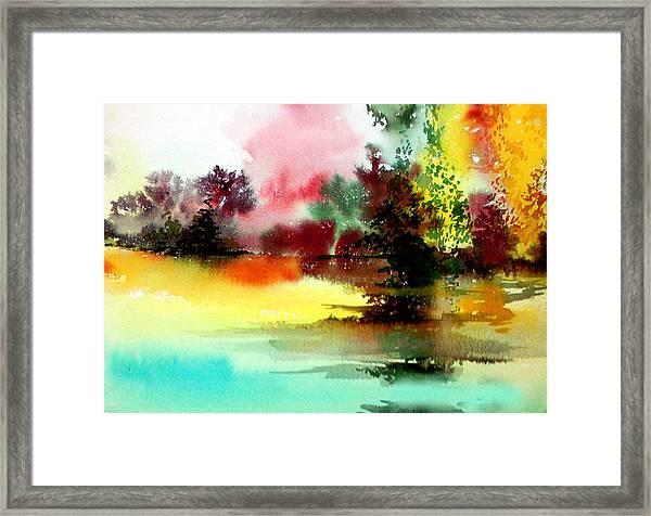 Lake In Colours Framed Print