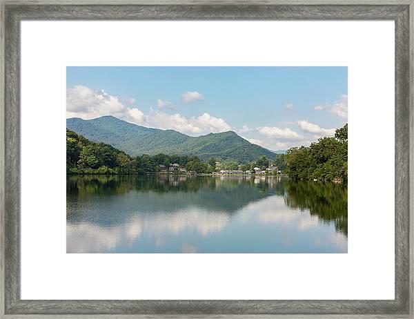 Framed Print featuring the photograph Lake Junaluska #1 - September 9 2016 by D K Wall