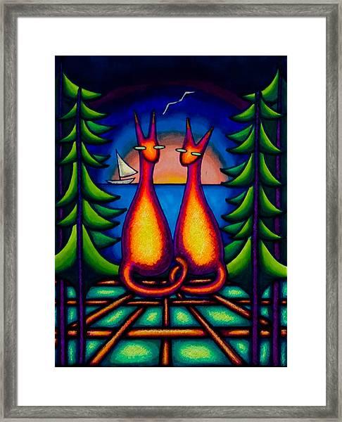 Lake Kats Framed Print