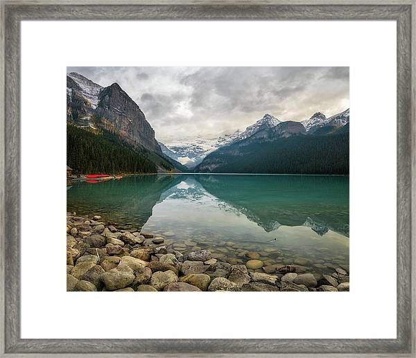 Lake Louise In The Fall Framed Print