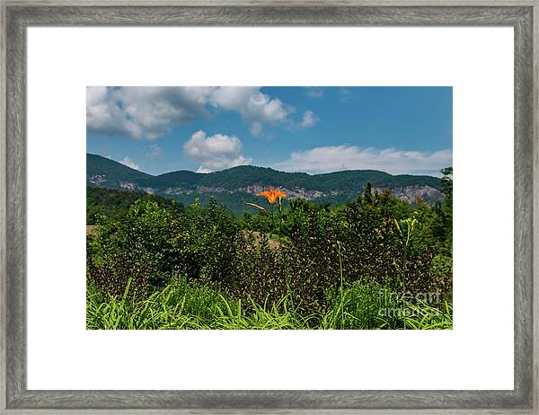 Lake Lure Framed Print