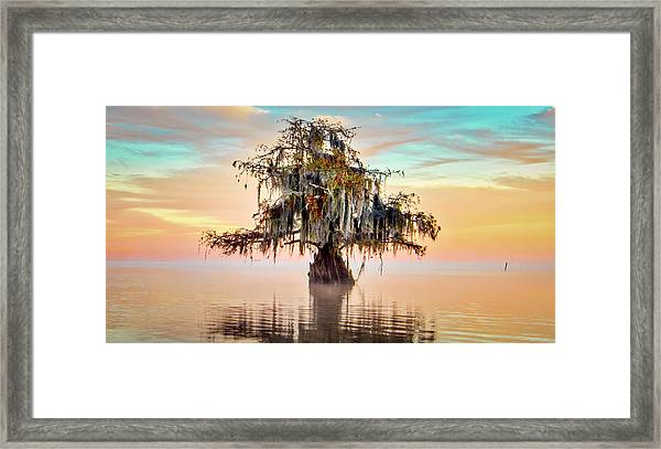 Lake Maurepas In Pastels Framed Print