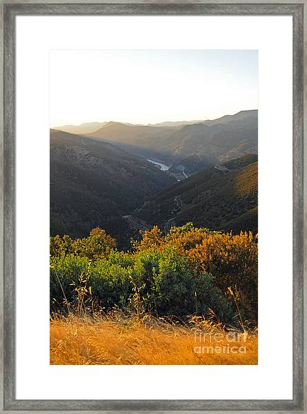 Lake Mcclure Ca Framed Print