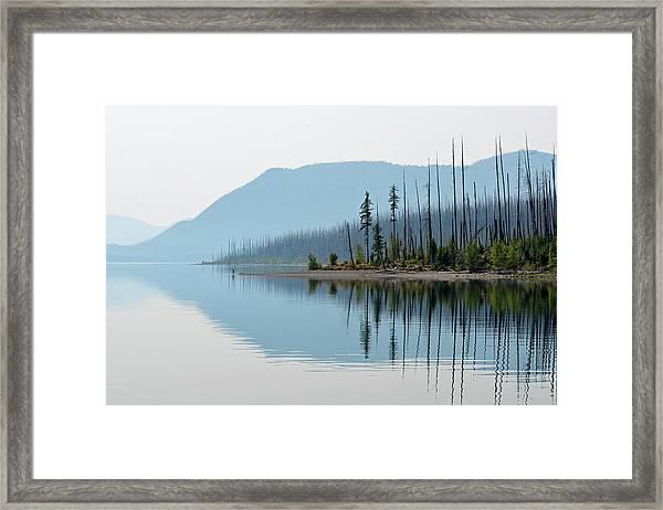 Lake Mcdonald Twin Reflections Framed Print