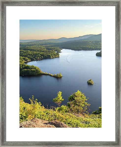 Lake Megunticook, Camden, Maine  -43960-43962 Framed Print